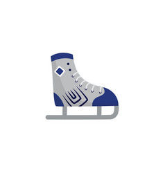 blue and grey ice skate shoe icon isolated on vector image