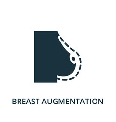 breast augmentation icon from plastic surgery vector image