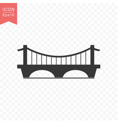 Bridge building icon simple flat style vector