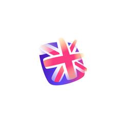 british flag icon flag great britain icon vector image