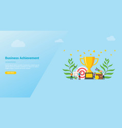 Business goal achivement company concept for vector