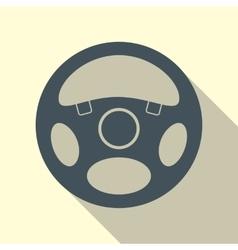 Car Steering Wheel Icon Flat Symbol vector