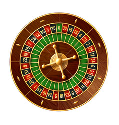 casino roulette wheel 3d of gamble game vector image