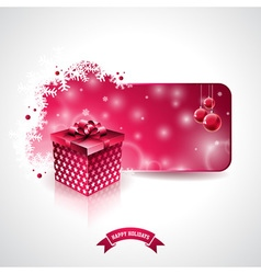 Christmas design with gift box vector image