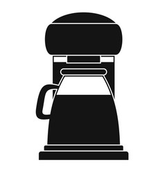 Classic coffee machine icon simple style vector