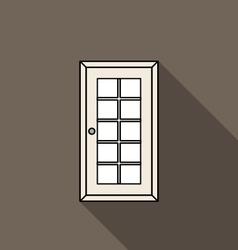 Closed door vector