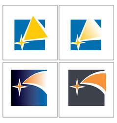 comet samples for logo vector image