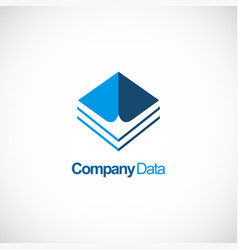 company data business logo vector image
