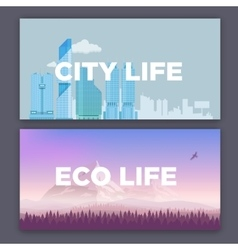 Concept of city environment vector