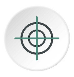 Crosshair icon circle vector