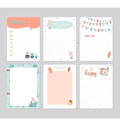 Cute Calendar Daily Planner vector image