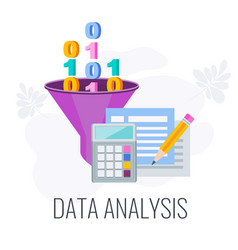 data analysis icon market research flat vector image