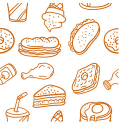 Doodle of various food style collection vector