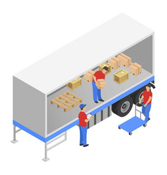 downloading the truck icon isometric style vector image