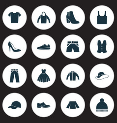 Dress icons set collection of elegant headgear vector