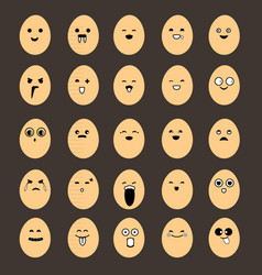 egg emoticons image vector image