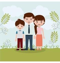 Family relationship portrait design vector