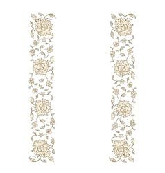 Floral vignette for your design vector image