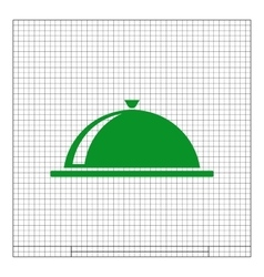 Food cover icon vector