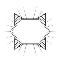 Frame monochrome elegant icon vector