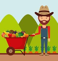 Fresh farm products vector