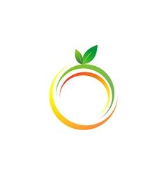 fresh fruit symbol abstract color logo vector image