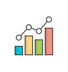 growing bar graph vector image