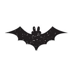Halloween slhouettes bat vector