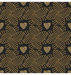 Heart stripes seamless background pattern vector image