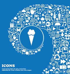Ice Cream icon sign Nice set of beautiful icons vector image