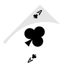 Isolated ace clubs vector