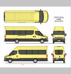 Iveco daily passenger van l4h3 2014-2019 vector