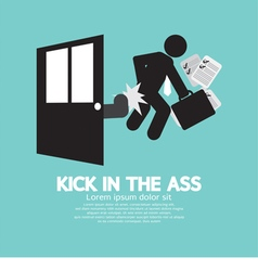 Kick In The Ass Symbol vector image