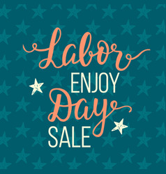 Labor day sale unique advertisement poster vector