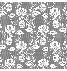 Lace rose on gray background vector image