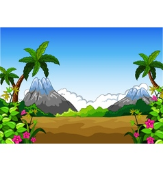 landscape with mountain background vector image