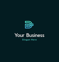 Letter d line creative business logo vector