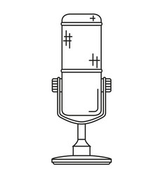 line art black and white wireless mic vector image