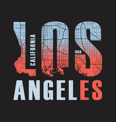 los angeles california tee print vector image