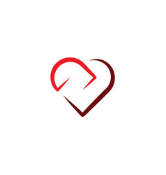love icon heart sign symbol design element vector image