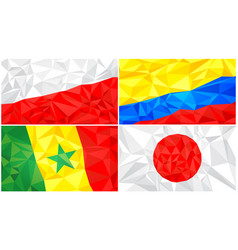 low poly flag abstract polygonal triangular vector image
