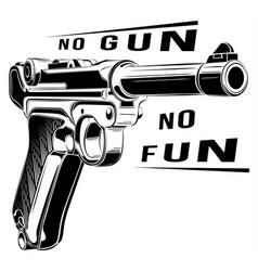 Luger p08 parabellum retro pistol pistol vector
