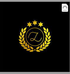 Luxury z initial logo or symbol business company vector