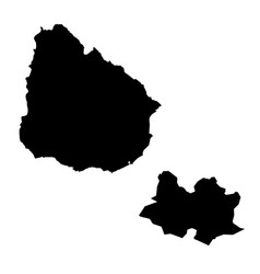 Map uruguay and montevideo country and capital vector