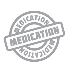 Medication rubber stamp vector