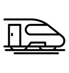Metro train icon outline style vector