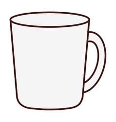 mug or cup icon image vector image