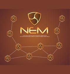 Nem blockchain style background collection vector