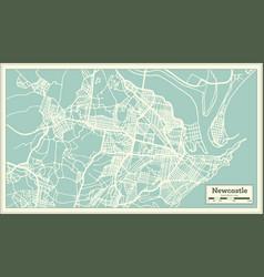 Newcastle australia city map in retro style vector