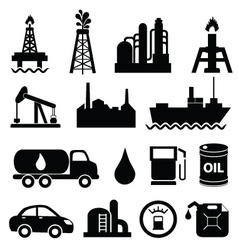 oil and machinary icons vector image